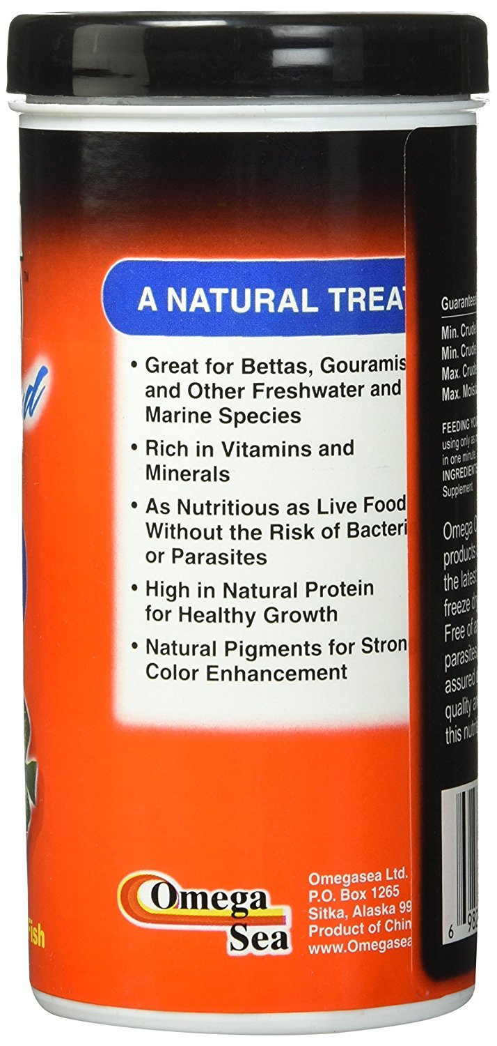 (3 Pack) Omega One Freeze Dried Blood Worms 0.96oz by Omega One (Image #2)