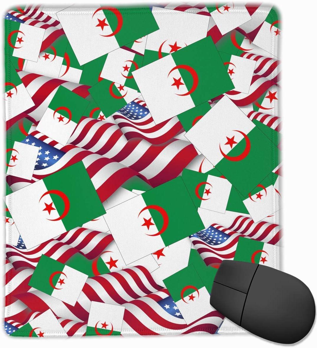 Alfombrilla de ratón Bandera de Argelia con la Bandera de América ...