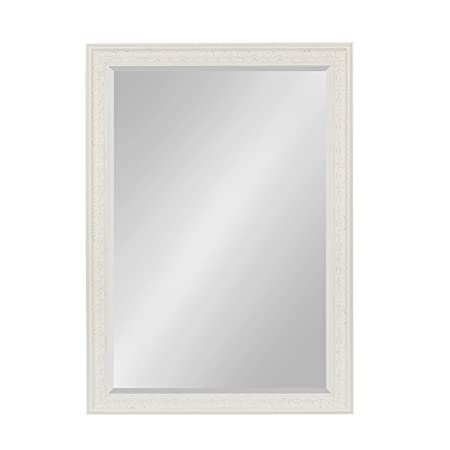 Kate and Laurel Alysia Framed Wall Mirror, 28.5×40.5, White