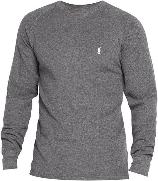 Ralph Lauren Uomo 100/% Cotone Girocollo Manica Lunga T-shirt