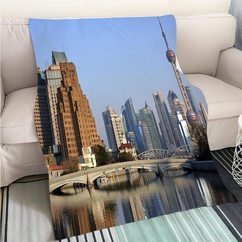 color19 59 x 80in Creative Flannel Printed Blanket for Warm Bedroom Sussex Coastline at Sunset Perfect for Couch Sofa or Bed Cool Quilt