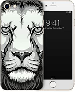 For iPhone 7 & For iPhone 8 Skin - Art - Black and White Lion - Art
