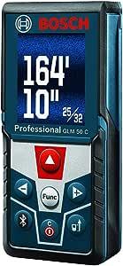 Bosch Blaze GLM 50 C Bluetooth Enabled 165' Laser Distance Measure with Color Backlit Display