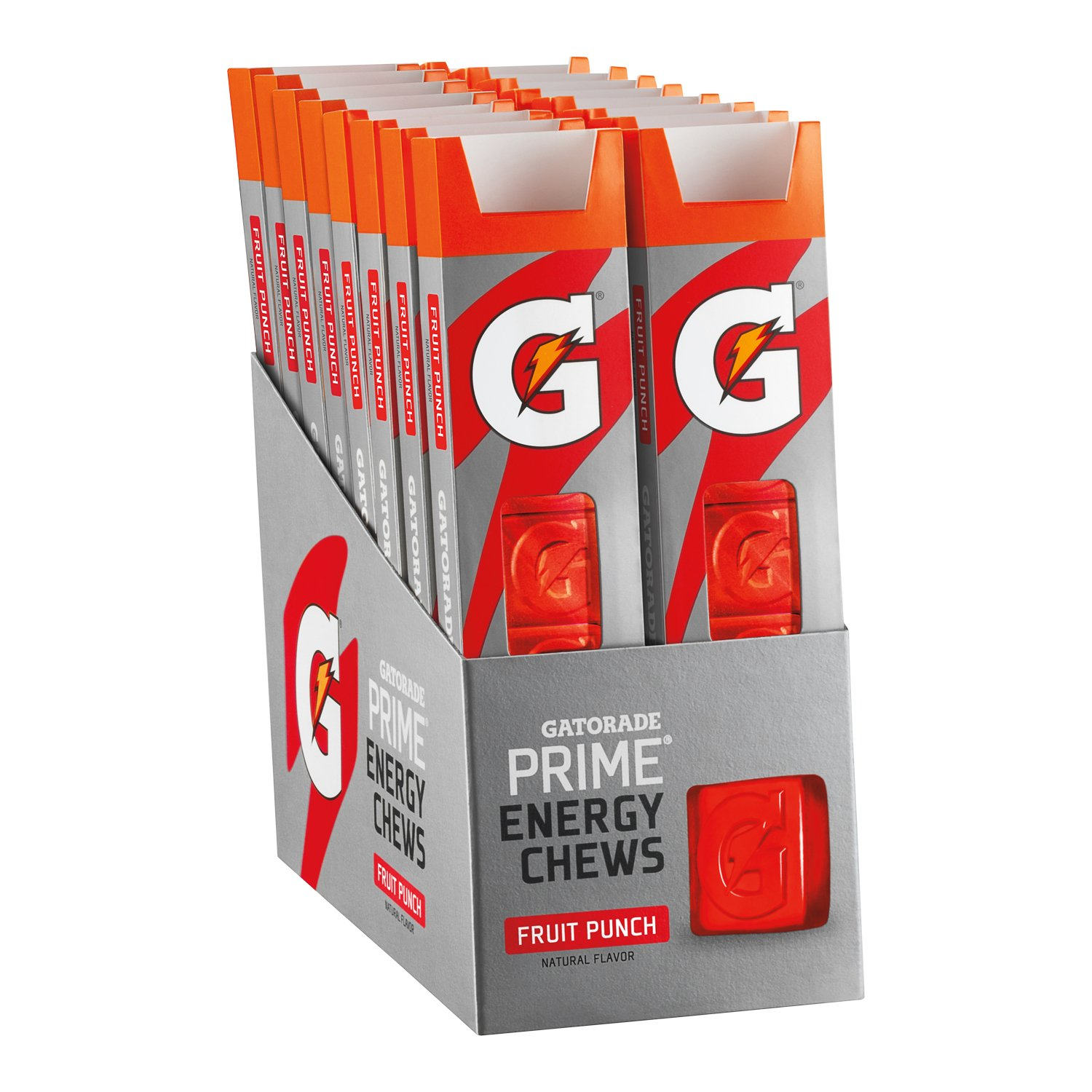 Gatorade Prime Energy Chews, Fruit Punch (Pack of 16) by Gatorade