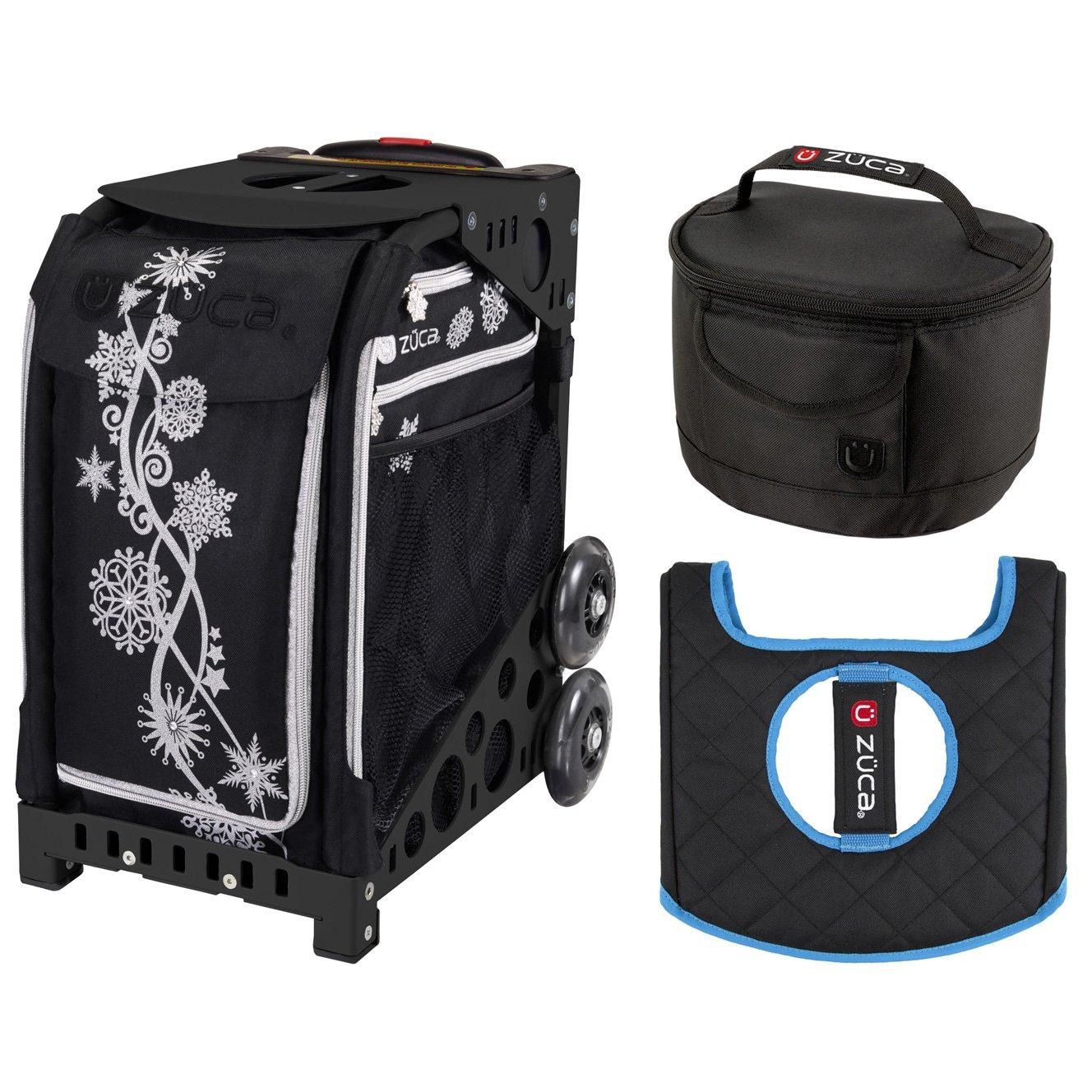 Zucaスポーツバッグ – シルバーShimmer withギフトLunchboxとシートカバー(ブラックnon-flashingホイールフレーム)