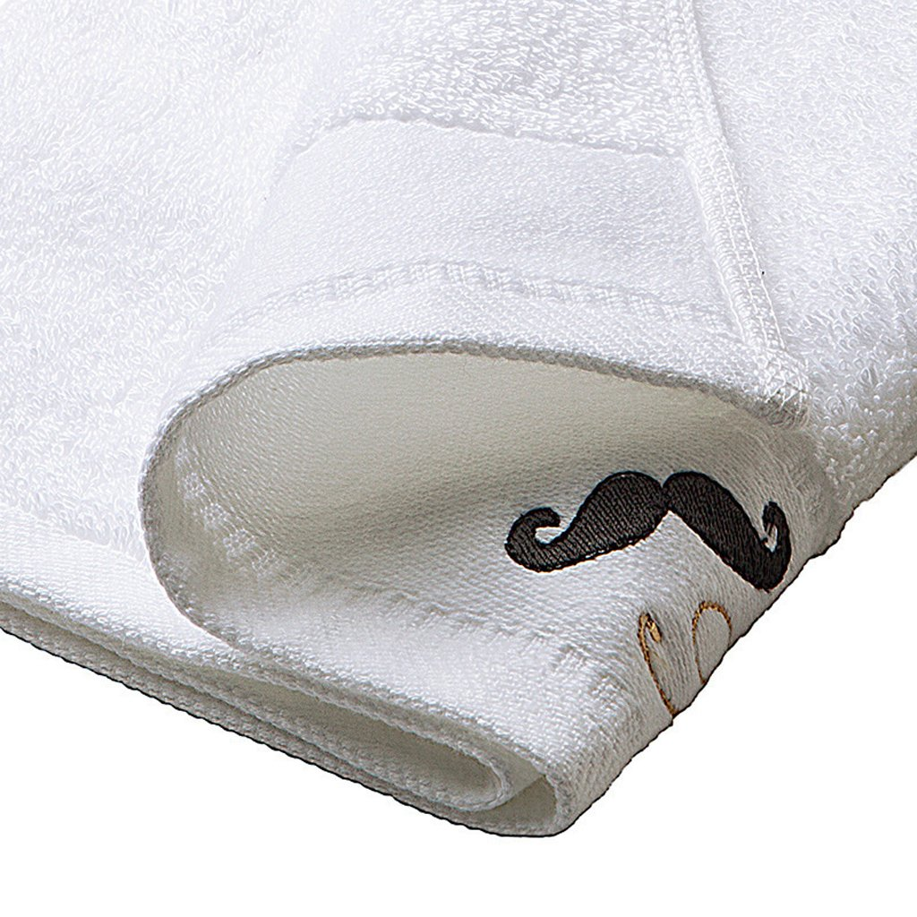 FITYLE Boda De Mr Mrs Lip Mustache Algod/ón Mano Bordada Toallas para La Cara Favores De Boda