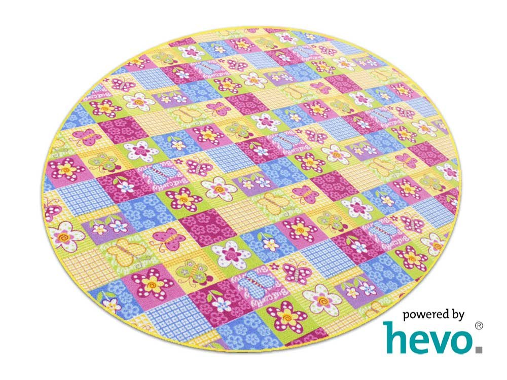 Patchwork HEVO® Kinderteppich   Spielteppich 200 cm Ø Rund