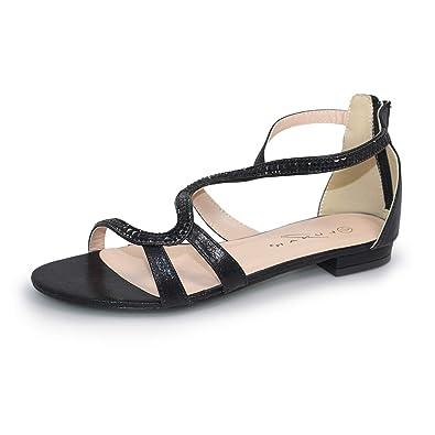 f7d219adf1f2 Lunar Women s Belle  S  Gladiator Sandal  Amazon.co.uk  Shoes   Bags