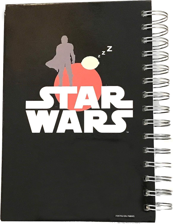 Mandalorian Star Wars The Child Baby Yoda Squish Squishy Face Diary Journal Black