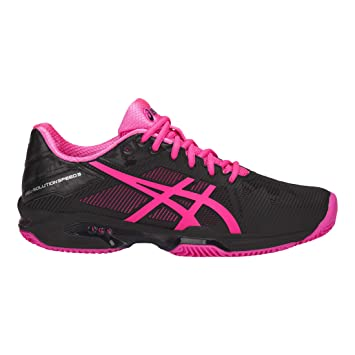 ASICS Mujeres Gel-Solution Speed 3 Clay Zapatillas De Tenis Zapatilla Tierra Batida Negro - Rosa 44,5: Amazon.es: Deportes y aire libre