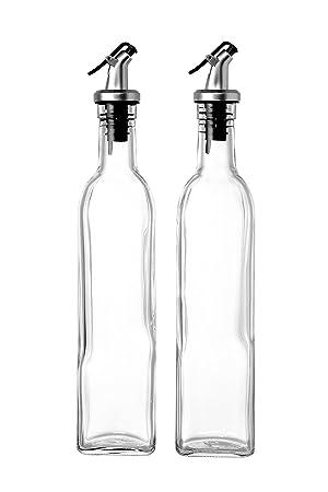 Dispensador de aceite de oliva – 2 unidades aceite vinagre dispensador dosificador de liberación con palanca