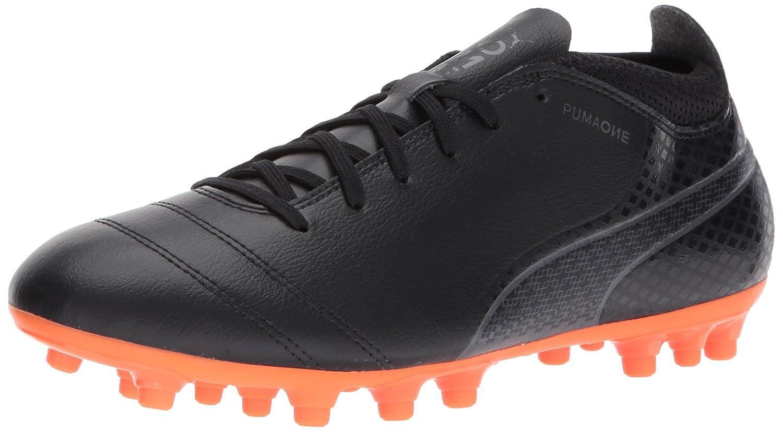 PUMA Men's One 17.4 Ag Soccer Shoe B01NCLBXIG 9.5 M US|Puma Black-puma Black-shocking Orange