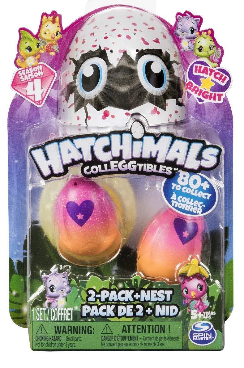 Random Assortment with Emery ila 2-Pack Sticker 1 Blind Set TM nest Hatchimals Colleggtibles Season 4 4-Pack Bonus Collectibles Season 4