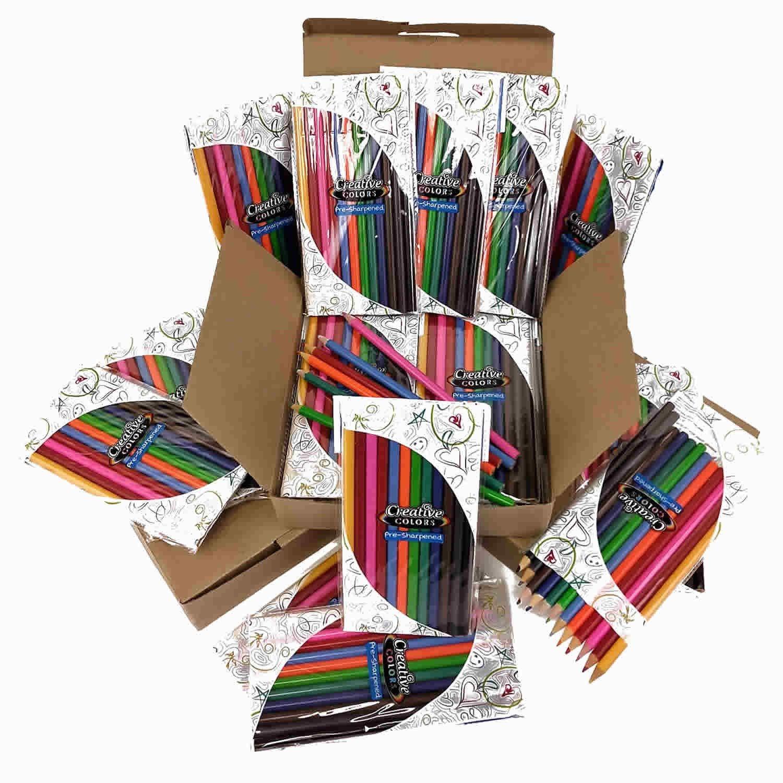 Wholesale 12 Piece Set Coloring Pencils - Case of 96