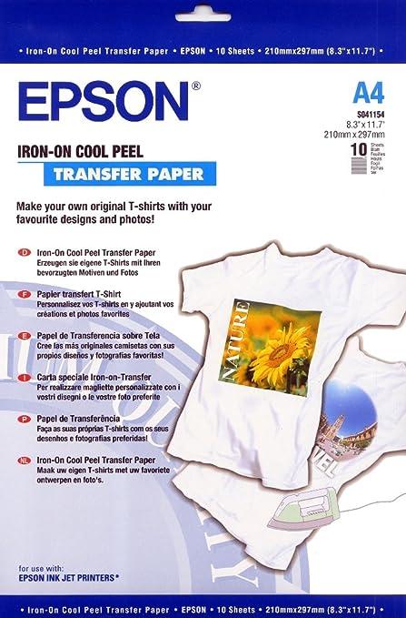 79 opinioni per Epson C13S041154 Carta Speciali, Transfer Paper, 124 G, A4, Inkjet, Confezione