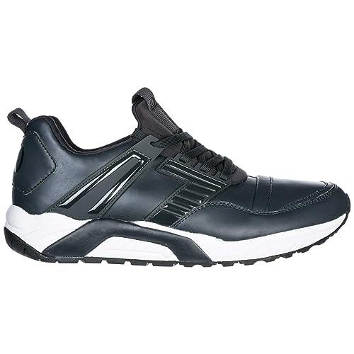 Emporio Armani EA7 Zapatos Zapatillas de Deporte Hombres Nuevo Gris EU 43.13 X8X021XK028F0008: Amazon.es: Zapatos y complementos
