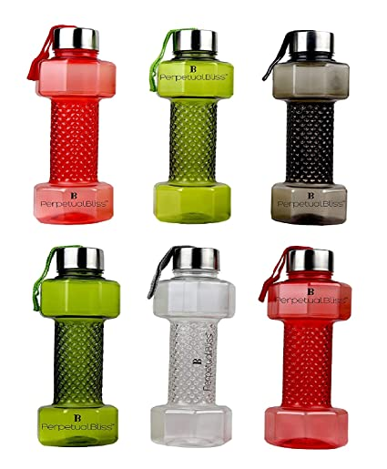 Buy Perpetual Bliss Pack Of 12 Fancy Transparent Dumbbell Shape