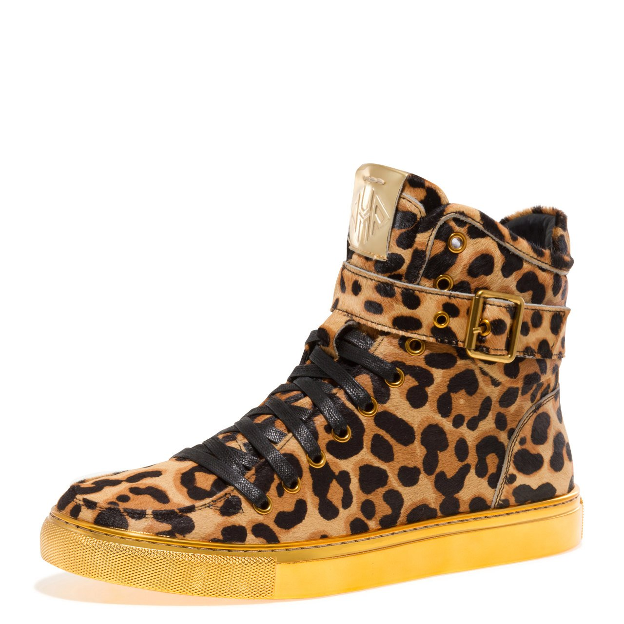 - JUMP NEWYORK Men's Sullivan High Top Sneaker Tan Cheetah Print 10 D US Men