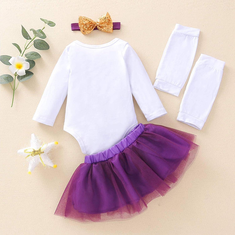 SUSSURRO Conjunto de 4 faldas de A/ño Nuevo para ni/ña reci/én nacida