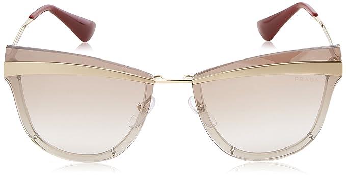 aba9a63aff2 Amazon.com  Prada Women s 0PR 12US Beige Marrone Chiaro Gradient Brown  Mirror Silver One Size  Clothing