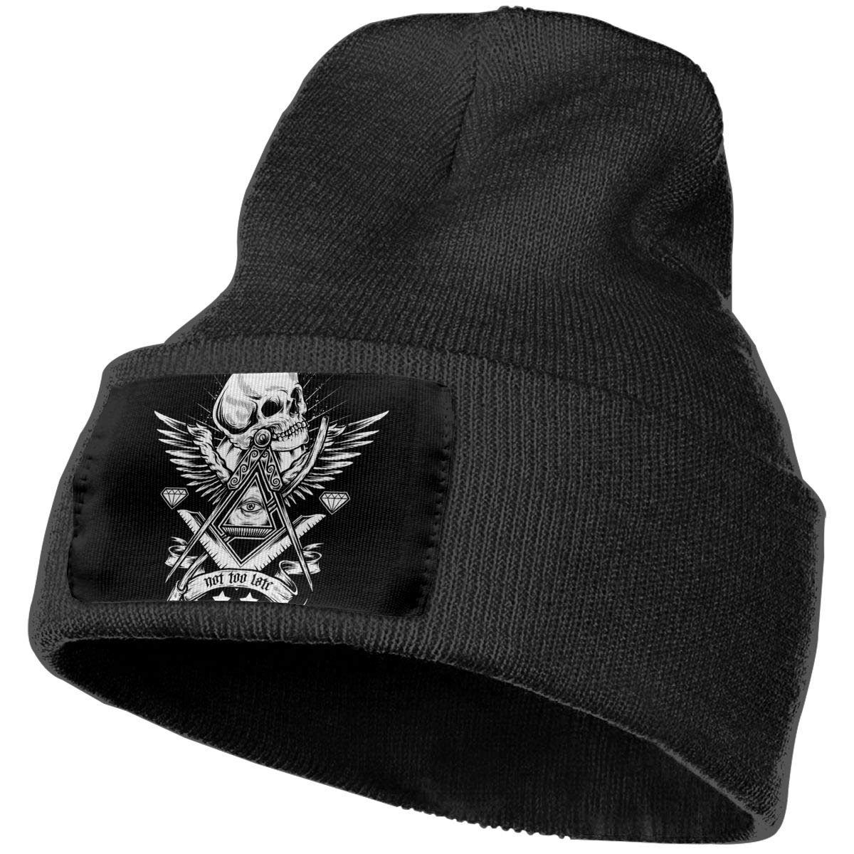 Fair Not Too Late Hat for Men and Women Winter Warm Hats Knit Slouchy Thick Skull Cap