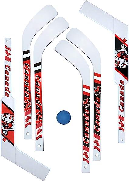 7 Piece Mini-Hockey Set (6 Mini-sticks with 1 Mini-ball), Hockey Sticks -  Amazon Canada