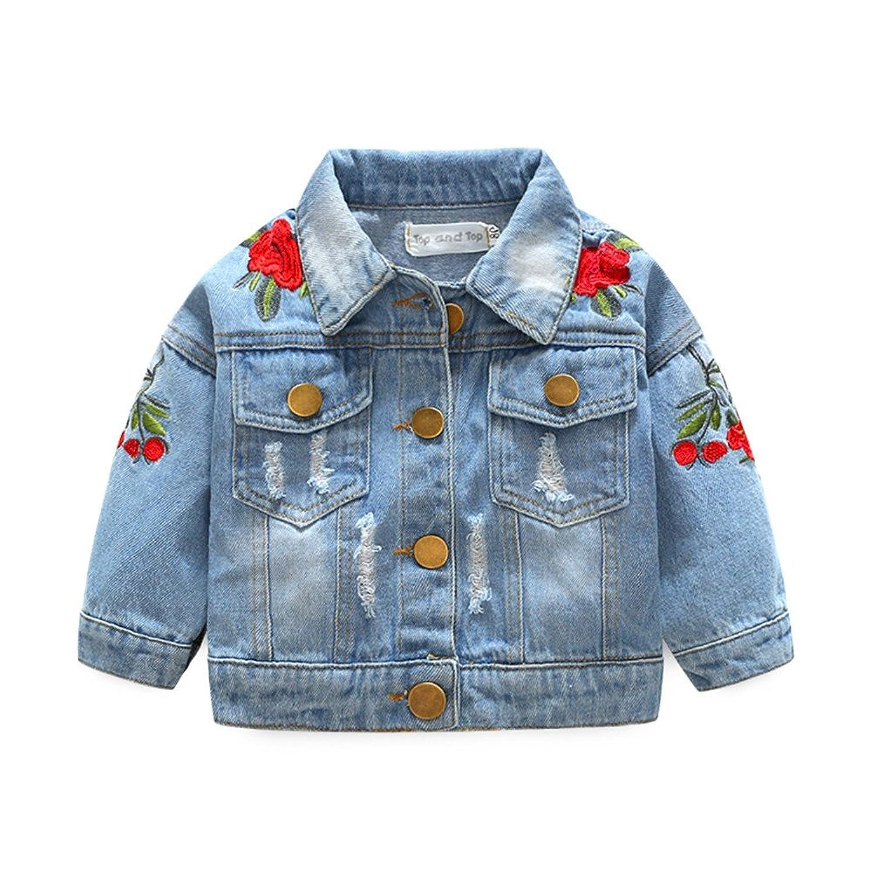 Fine Baby Doll Brand 3t Denim Baby Toddler Jean Jacket Vest Girls' Clothing (newborn-5t)
