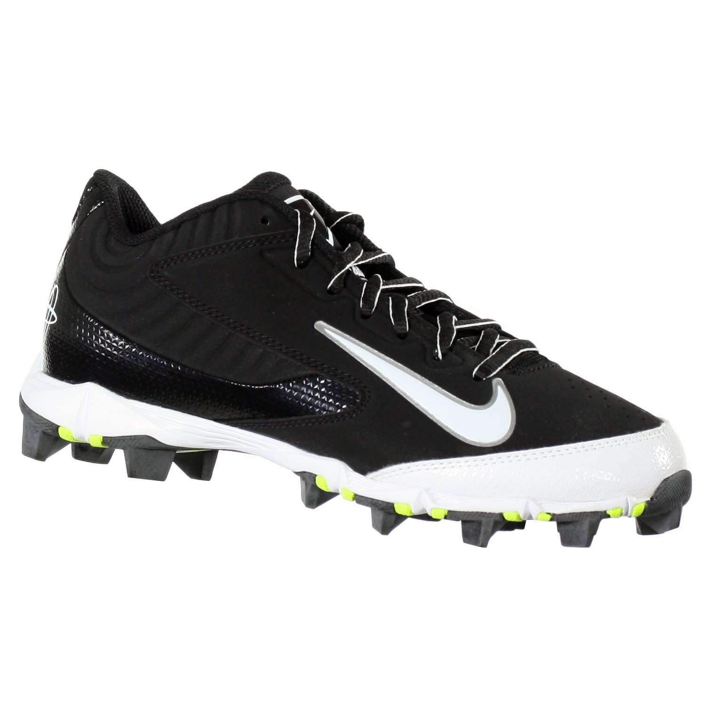 Nike Huarache Keystone Low GS Black/White Youth Molded Baseball Cleats 4.5Y