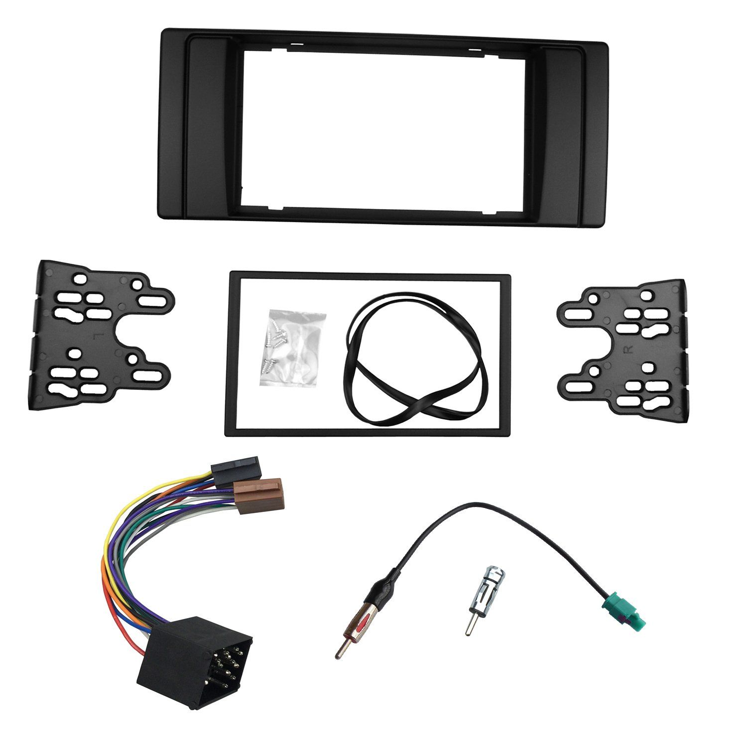 Dkmus Dash Installation Trim Kit For Bmw 5 Series E39 Amazoncom Stereo Install Ford 500 06 2006 Car Radio Wiring 1995 2003 X5 E53 1999 Facia Double Din Dvd With Harness Antenna