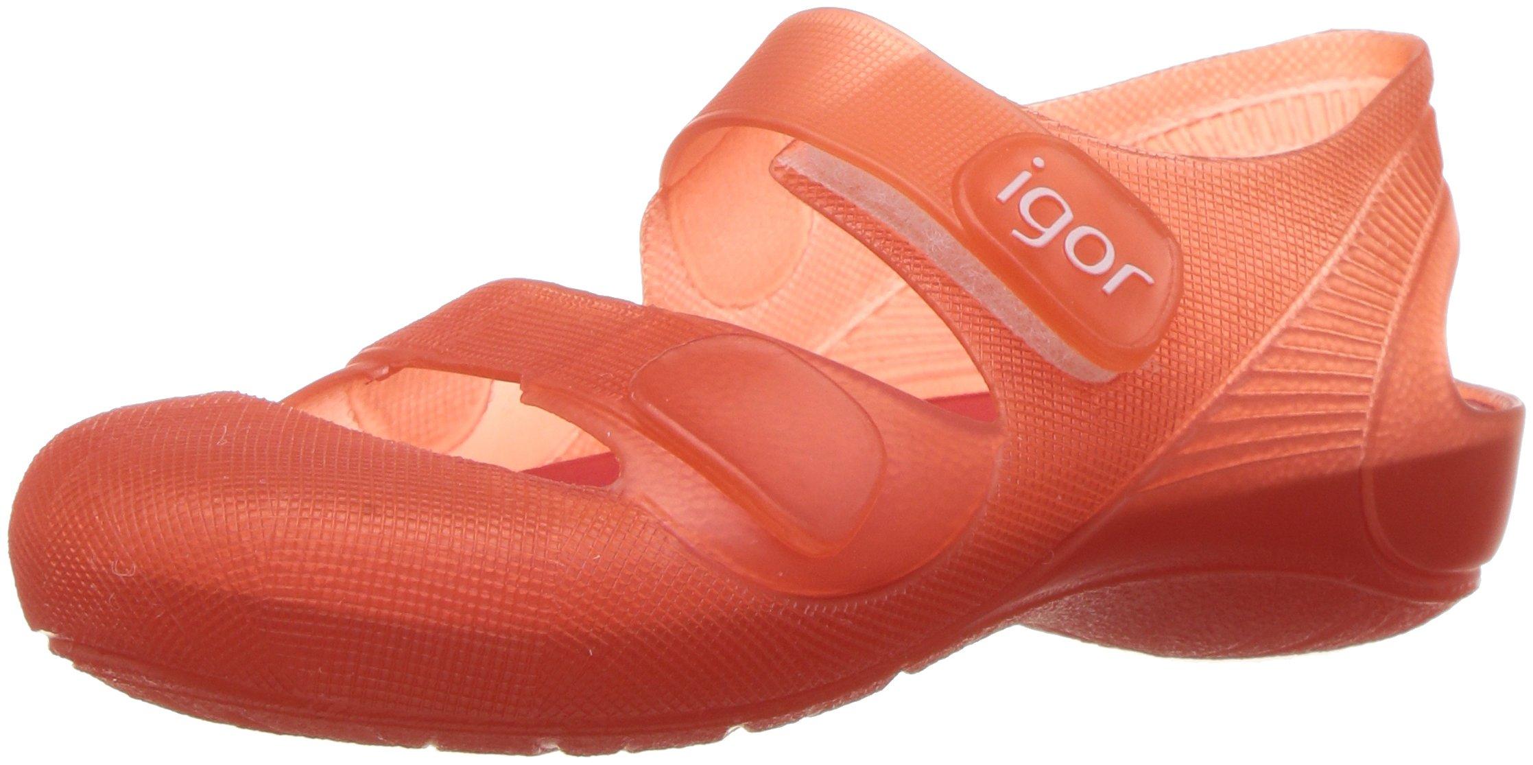 Igor Boys' S10110 Bondi Sandal, Red, 25 M EU/8 M US Toddler