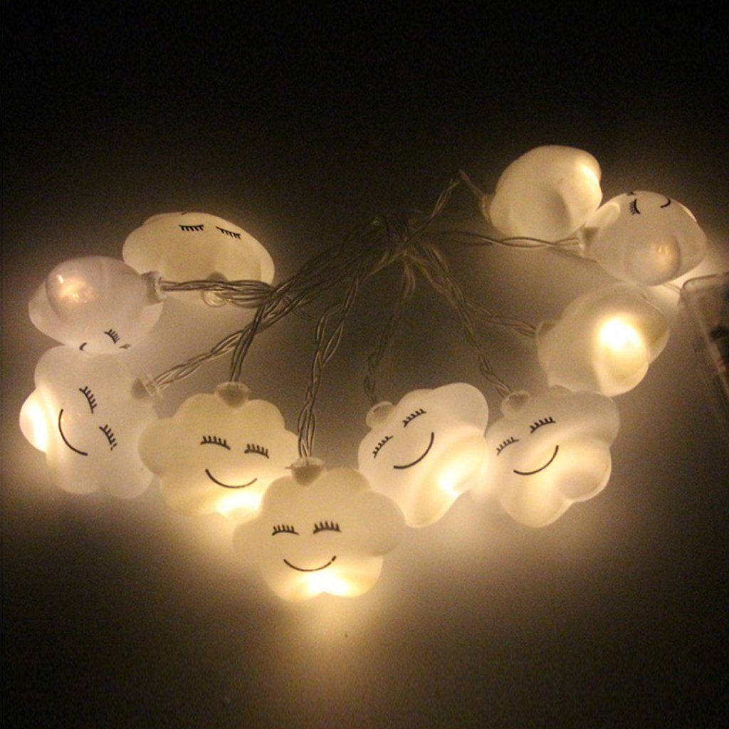Baoblaze Wolke Form LED Lichterkette batteriebetriebene ...