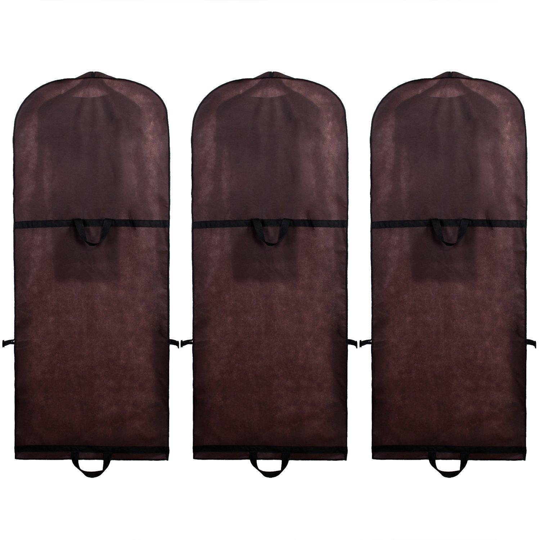 Pink 2 manici TKB1001 pink 180cm x 65cm 2 tasche per gli accessori TUKA traspirante Borsa porta abiti Respirabile Stoccaggio per vestiti da sposa // vestiti // giacche // cappotti