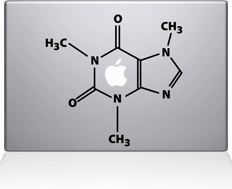 "The Decal Guru The Molecular Structure of Coffee MacBook Decal Vinyl Sticker - 15"" MacBook Pro (2016 & Newer) - Black (1195-MAC-15X-BLA)"