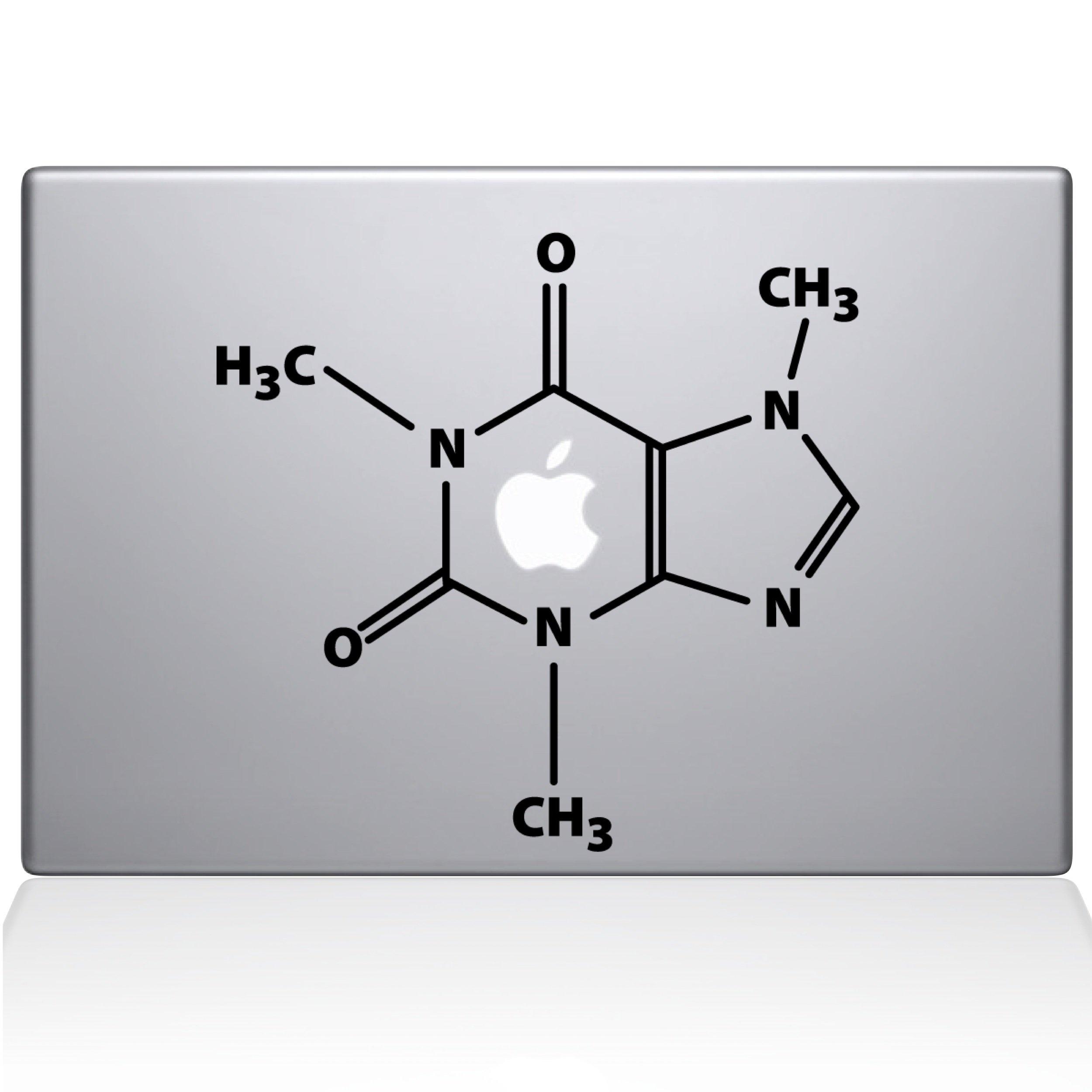 The Decal Guru The Molecular Structure of Coffee MacBook Decal Vinyl Sticker - 11'' MacBook Air - Black (1195-MAC-11A-BLA)