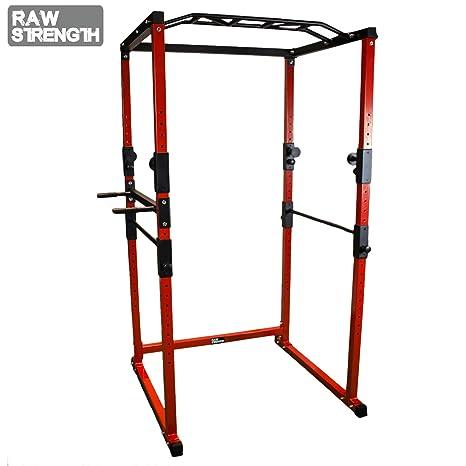 Power Cage Fitness Rack Jaula de musculación en casa Acero (Tubo ...