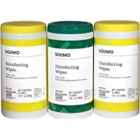 Amazon Brand - Solimo Disinfecting Wipes, Lemon Scent & Fresh Scent, Sanitizes/Cleans/Disinfects/Deodorizes, 75 Count…