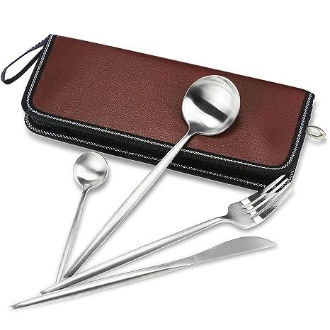 Amazon.com: Juego de cuchillos, tenedor, cuchara, palillos ...