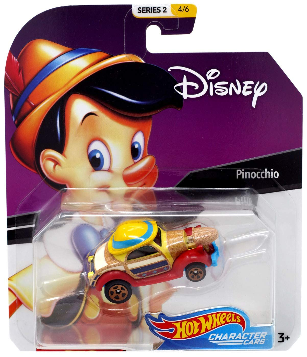 ac28b69007ad8 Pinocchio Hot Wheels Disney Character Cars Diecast Car 1:64 Scale