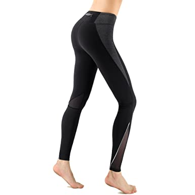 8238020a53 Zenwow Women High-Waist Gym Sport Leggings,Mesh Yoga Pants with Back Zipper  Pockets: Amazon.co.uk: Clothing