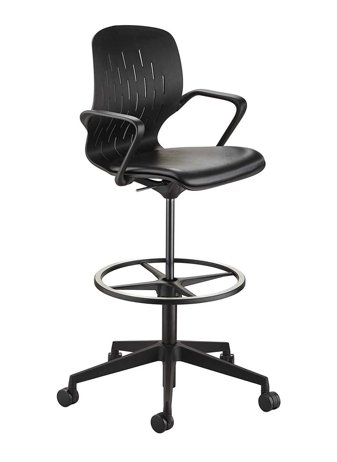 Safco Shell Chair, Extended Height, Black