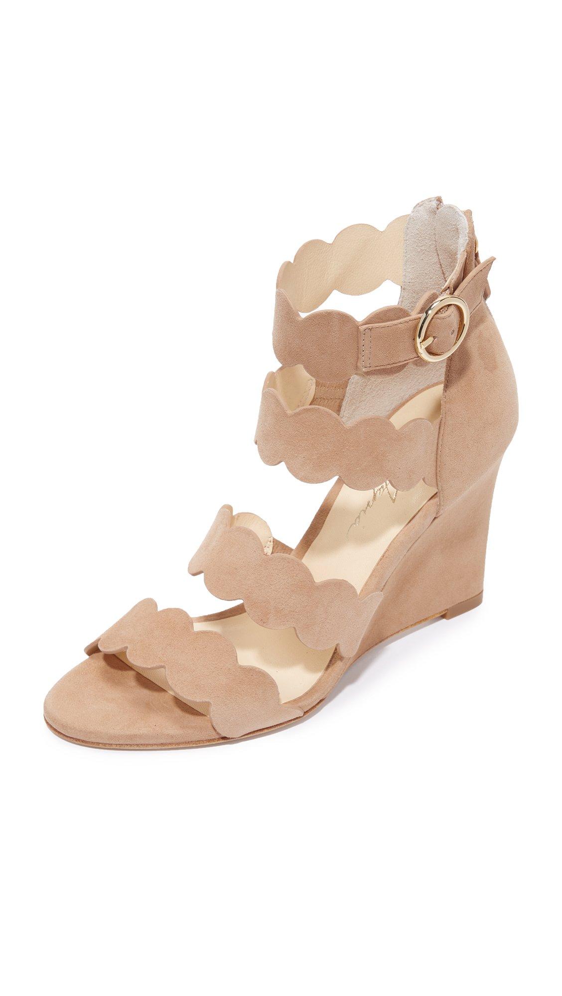 Isa Tapia Women's Paloma Wedge Sandals, Summer Sand, 37 EU (7 B(M) US Women)