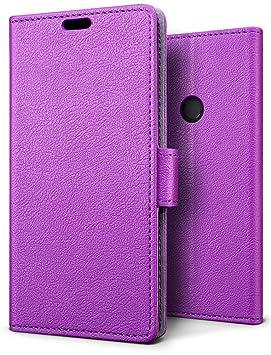 SLEO Funda Xiaomi Redmi Note 6 Pro Carcasa Libro de Cuero Ultra Delgado Billetera Cartera [Ranuras de Tarjeta,Soporte Plegable,Cierre Magnético] Case ...