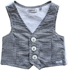 a309bdf91587d IKKS Baby Boys Striped Vest Grey (2)