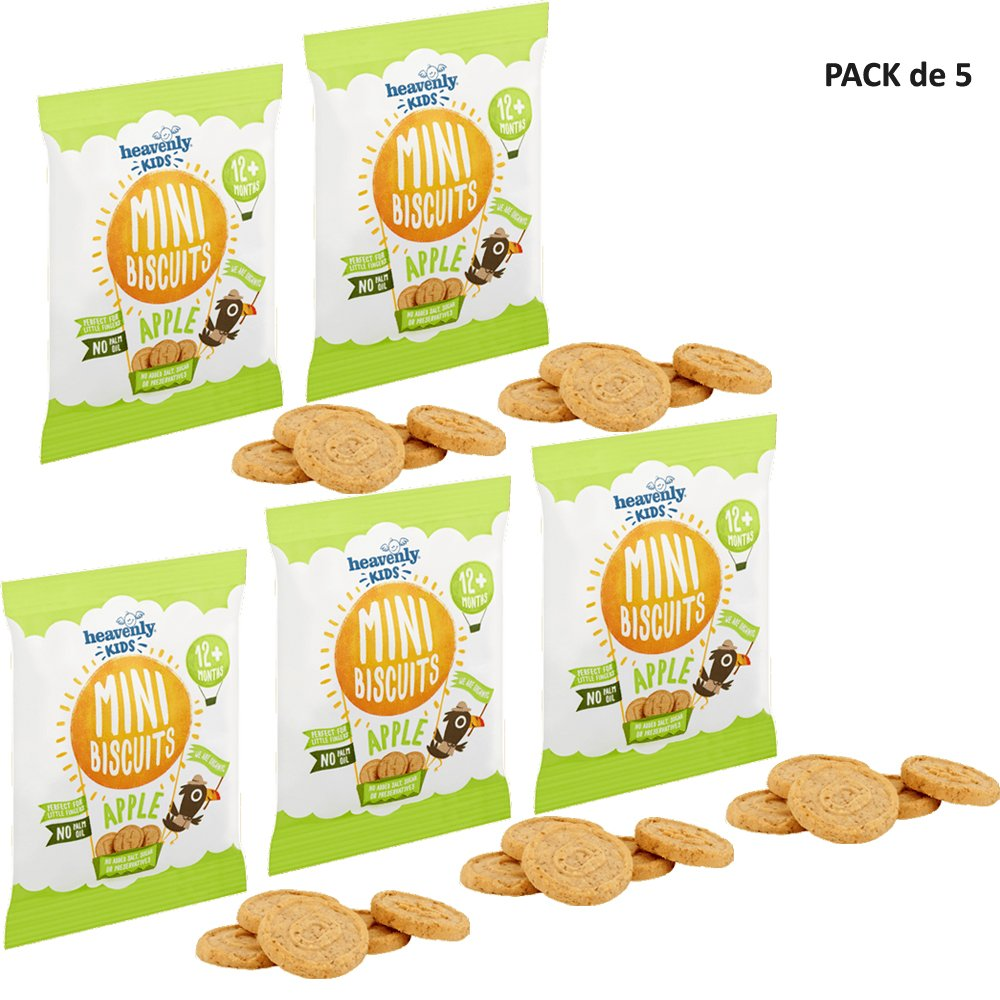 Heavenly Tasty Galletas Mini de Manzana 30g Pack de 5 ...
