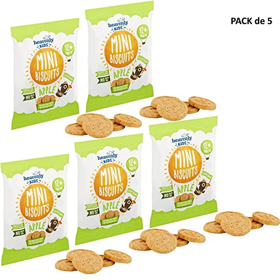 Heavenly Tasty Galletas Mini de Manzana 30g Pack de 5