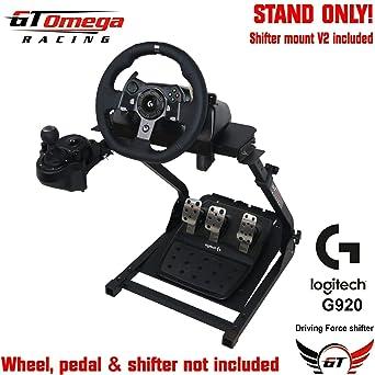 GT Omega Lenkradständer für Logitech G920 Racing Laufrad-, Pedal- & Schalthebelmontagesatz V2, Xbox One, Fanatec Clubsport, f