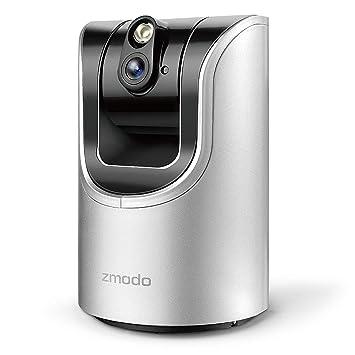 Zmodo 1 0 Megapixel 1280 x 720 Pan & Tilt Smart Wireless IP Network  Security Camera Easy Remote Access Two-way Audio (Renewed)