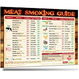 """2017 Best Meat Smoking Guide Magnet (8.5""""x11"""") The Only Magnet Covers 31 Meat Types with Important Smoking Time & Target Temperature. Outdoor Weatherproof BBQ Smoker Accessory Gift by Intel Kitchen"""