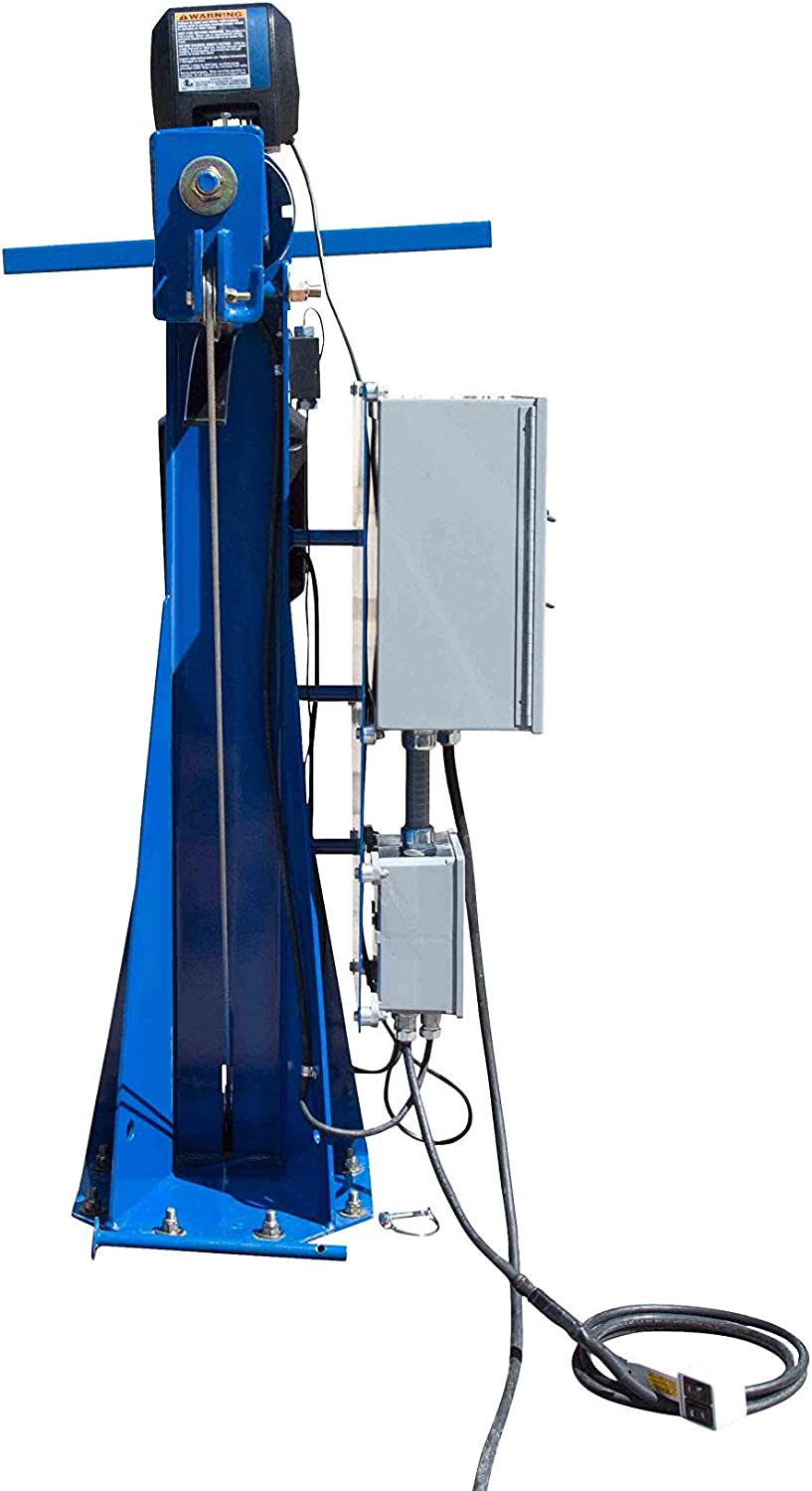 Fold Over Light Boom 3 Stage Tower 30ft Light Mast w//Electric Winch Operation Low Voltage