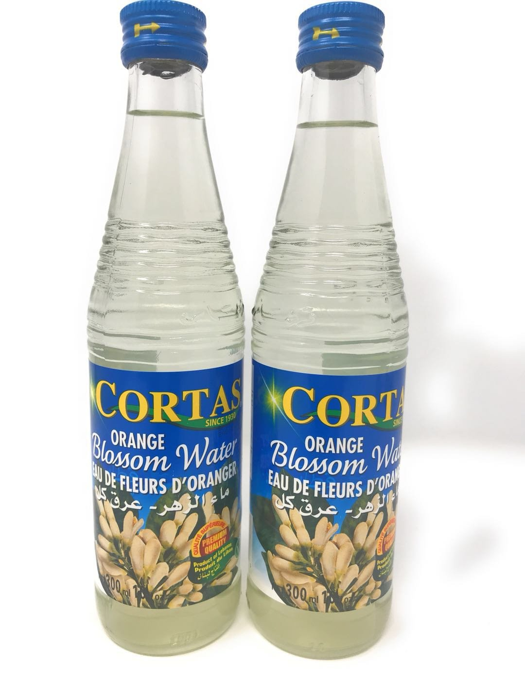 2 Packs Cortas Orange Blossom Water 10oz each by Fusion Select